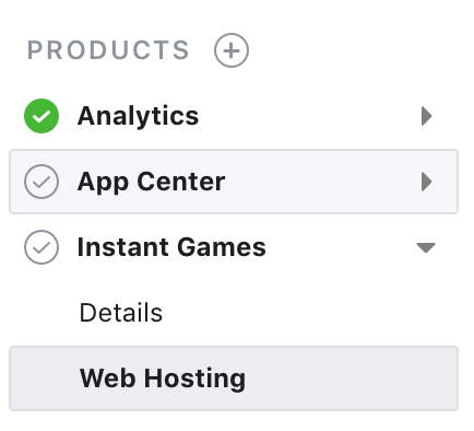 Facebook Web Hosting
