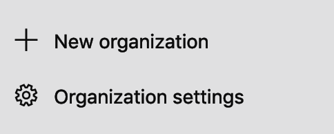 Organization Settings
